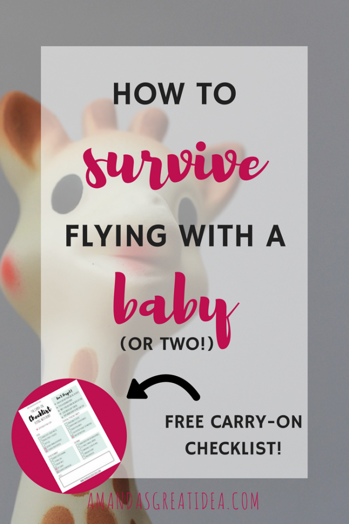 how to survive flying with a baby